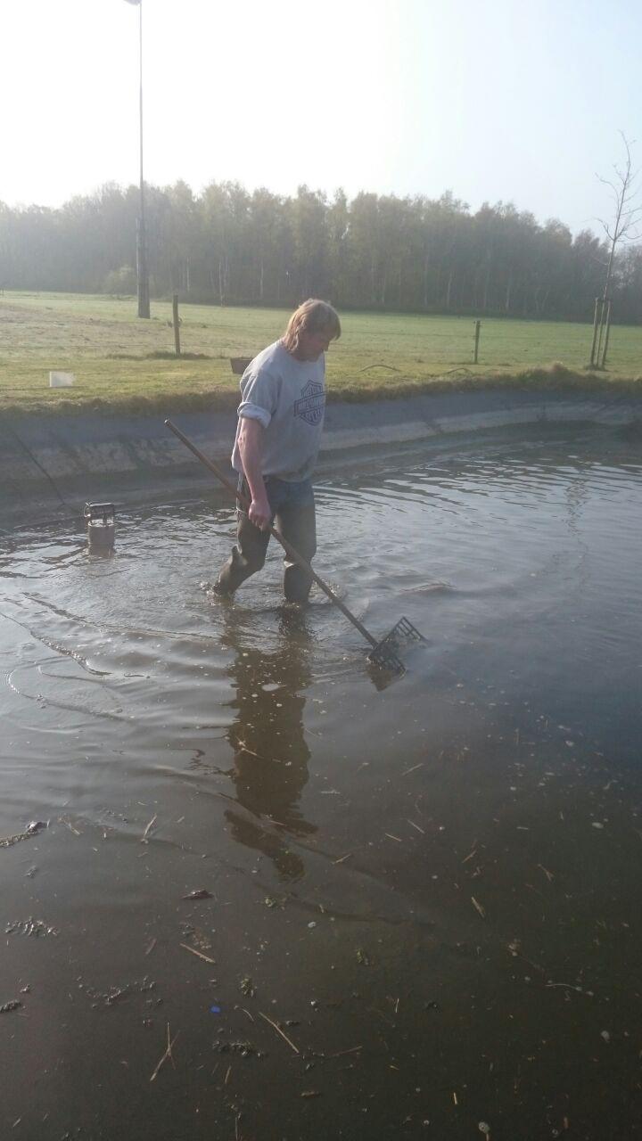 Vijver chaam vijveronderhoud natuurlijk schoon ton for Vissen vijver